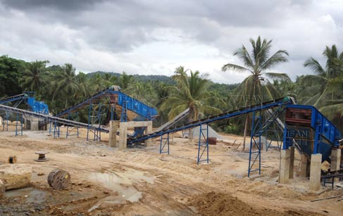 150t/h basalt crushing production line applied in Sri Lanka